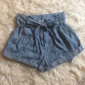 Abercrombie and Fitch Chambray Shorts with Bow
